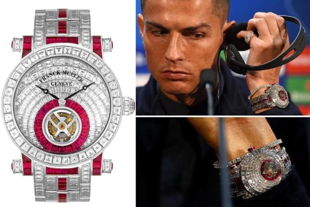 CR7 compra relógio de 400 mil