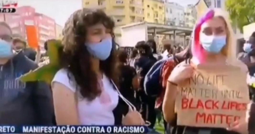 manifestação contra o racismo