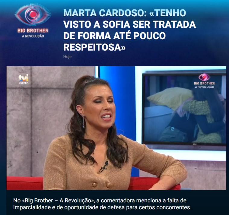 A TVI reagiu ao estouro de Marta Cardoso. A apresentadora está prestes a sair da TVI e soltou a franga