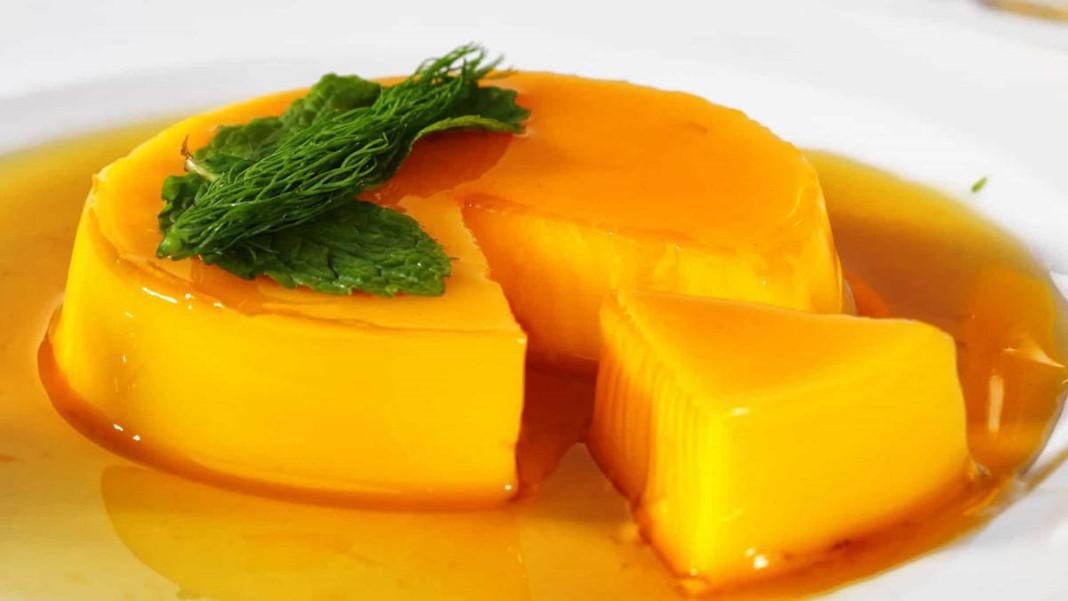 Delicioso pudim de laranja