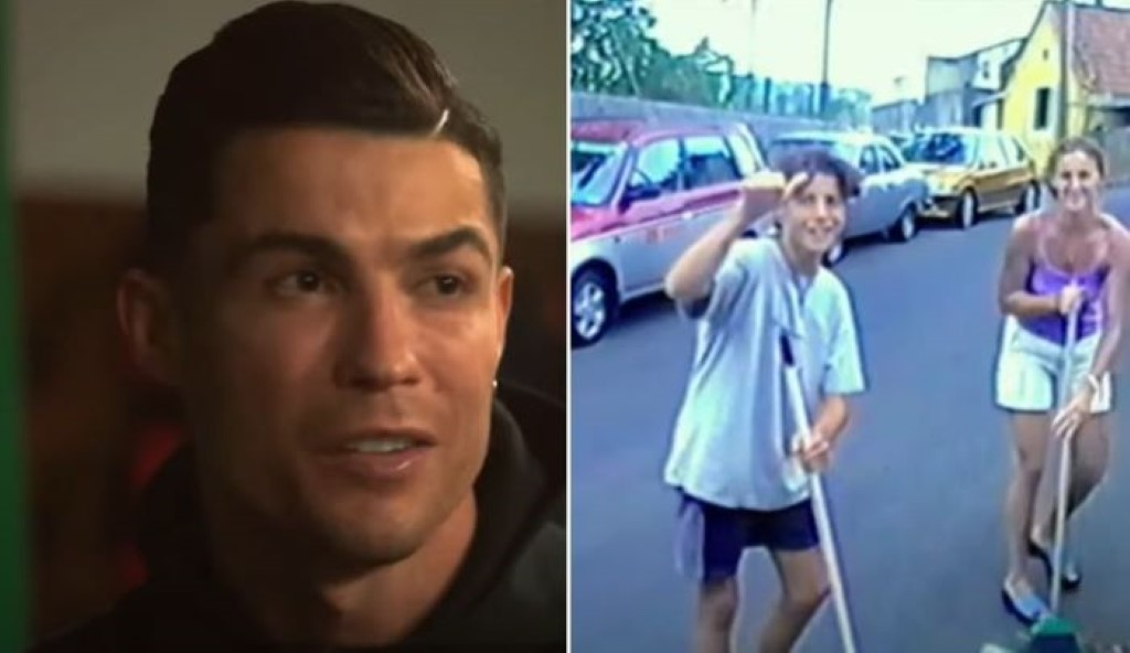 Cristiano Ronaldo relembra origens