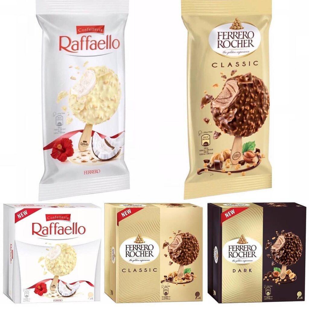 Gelados de pauzinho da Ferrero Rocher