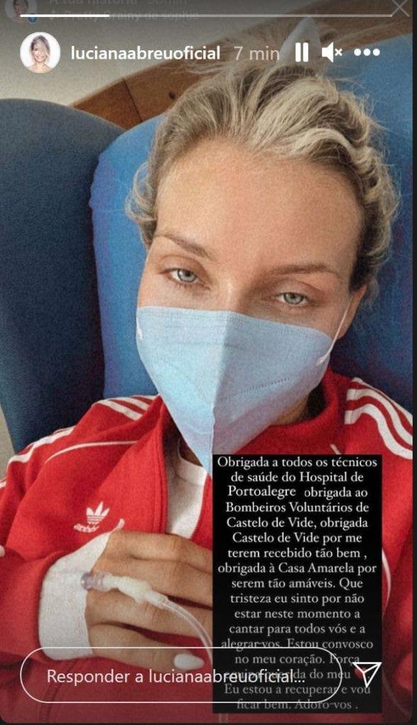 Luciana Abreu urgência Hospital